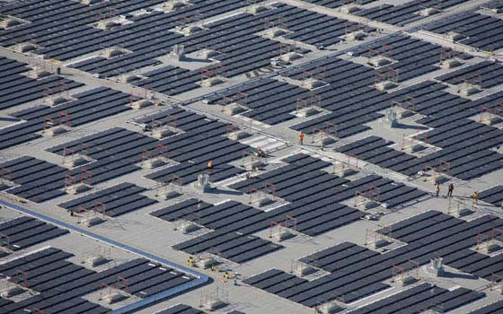 Millions Of Square Feet Of Solar Panels