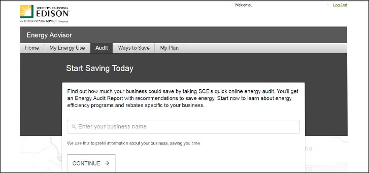 Energy Advisor business survey page screenshot