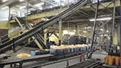Conveyor belt in WARCO factory