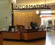 Photo of information desk at an office