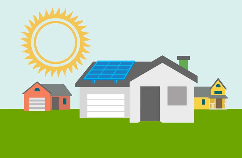 Image of home with solar panel
