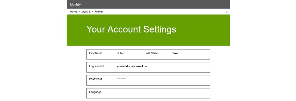 Your Account Setting screen - you're done