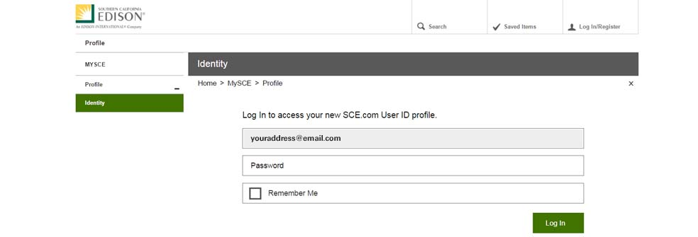 Log In Email Address Verified Page