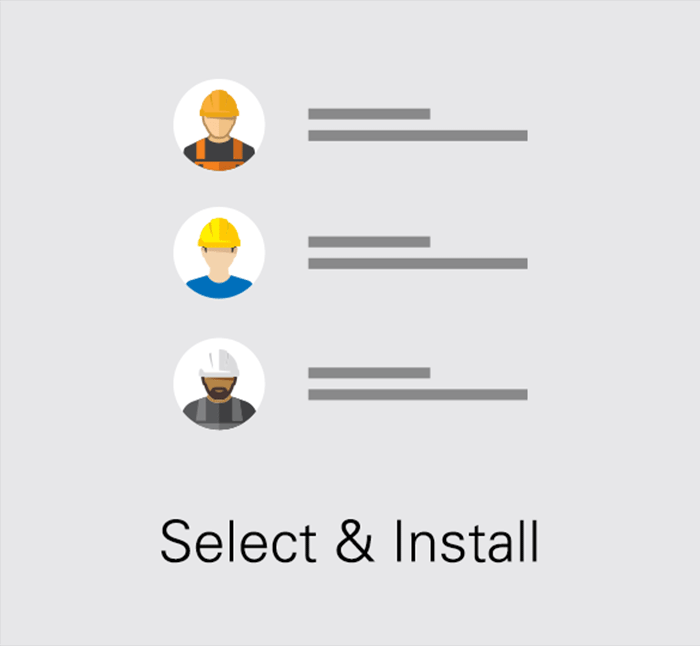 Select and Install