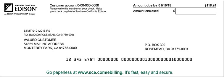Understand Your Bill Billing Payment Customer Support Home Sce