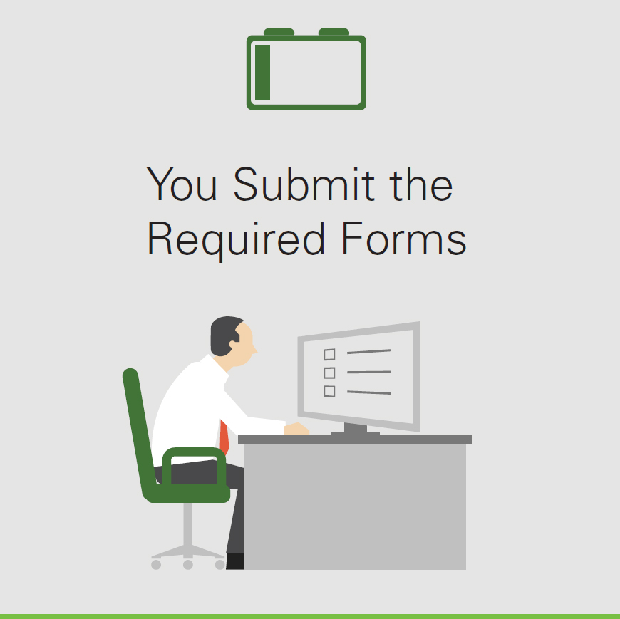 You Submit the Required Forms
