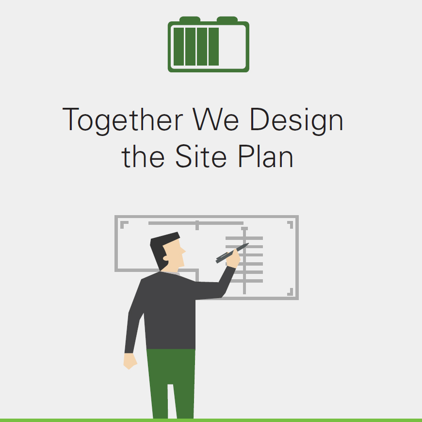 Together We Design the Site Plan